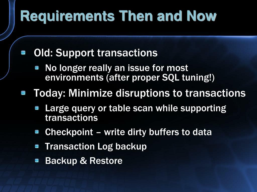 Requirements Then and Now