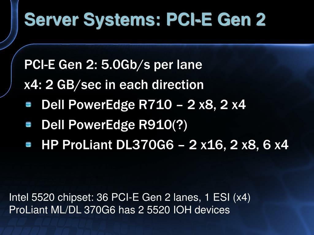 Server Systems: PCI-E Gen 2