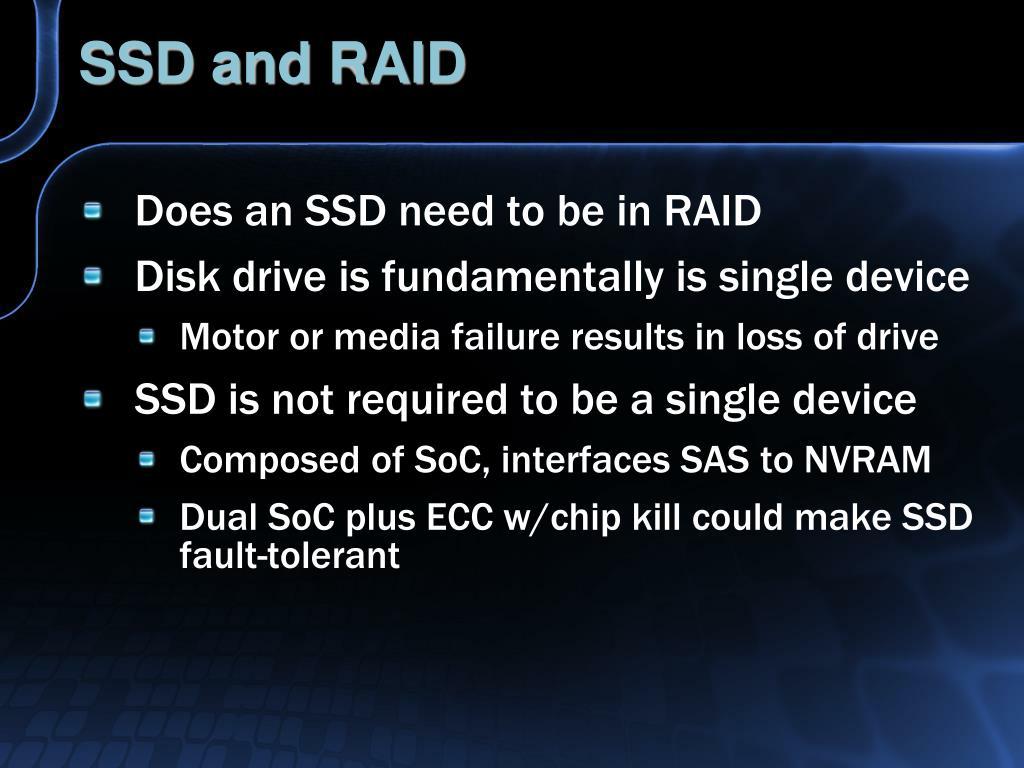 SSD and RAID