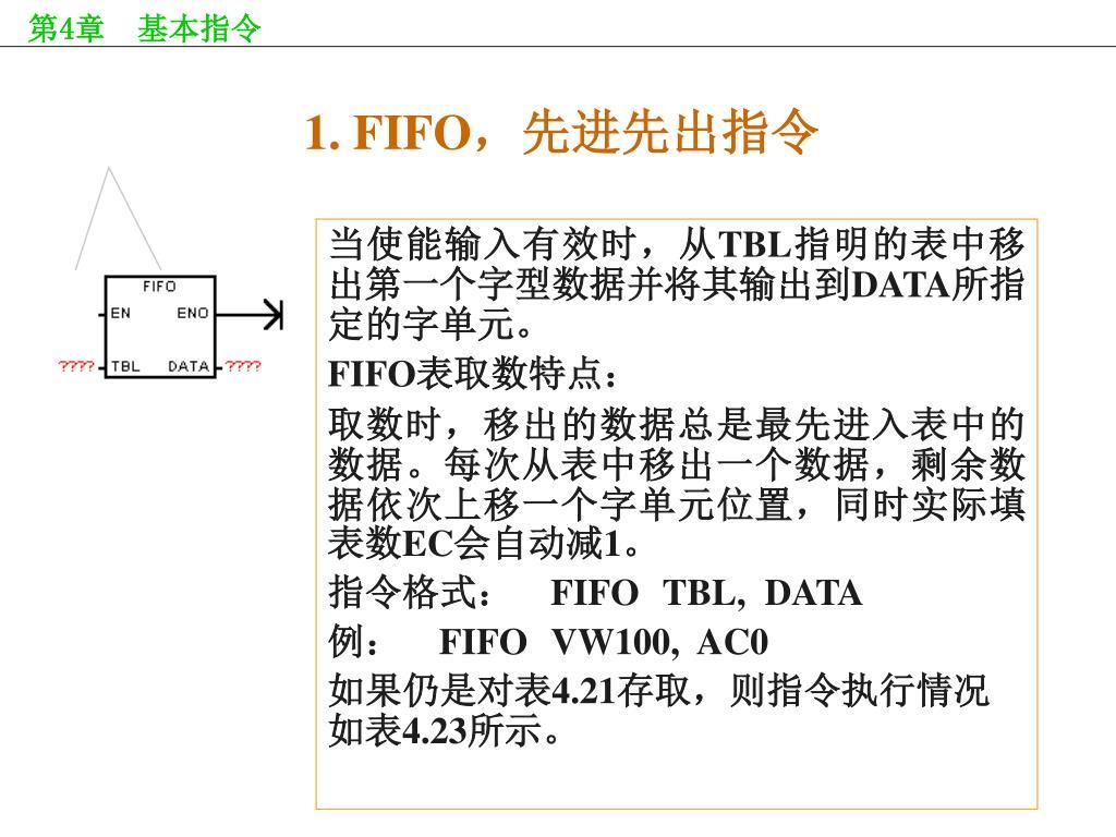 1. FIFO