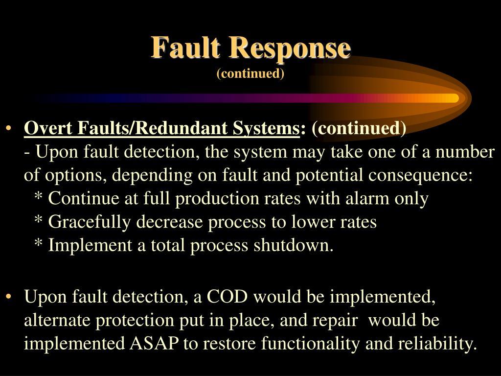 Fault Response