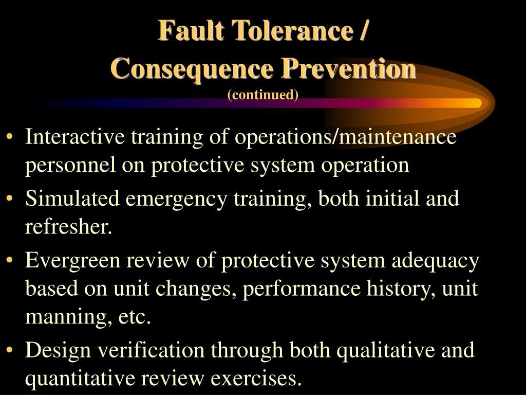 Fault Tolerance /