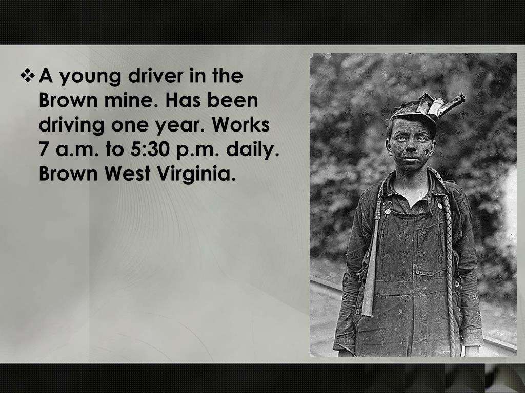 A young driver in the Brown mine. Has been driving one year. Works 7 a.m. to 5:30 p.m. daily. Brown West Virginia.