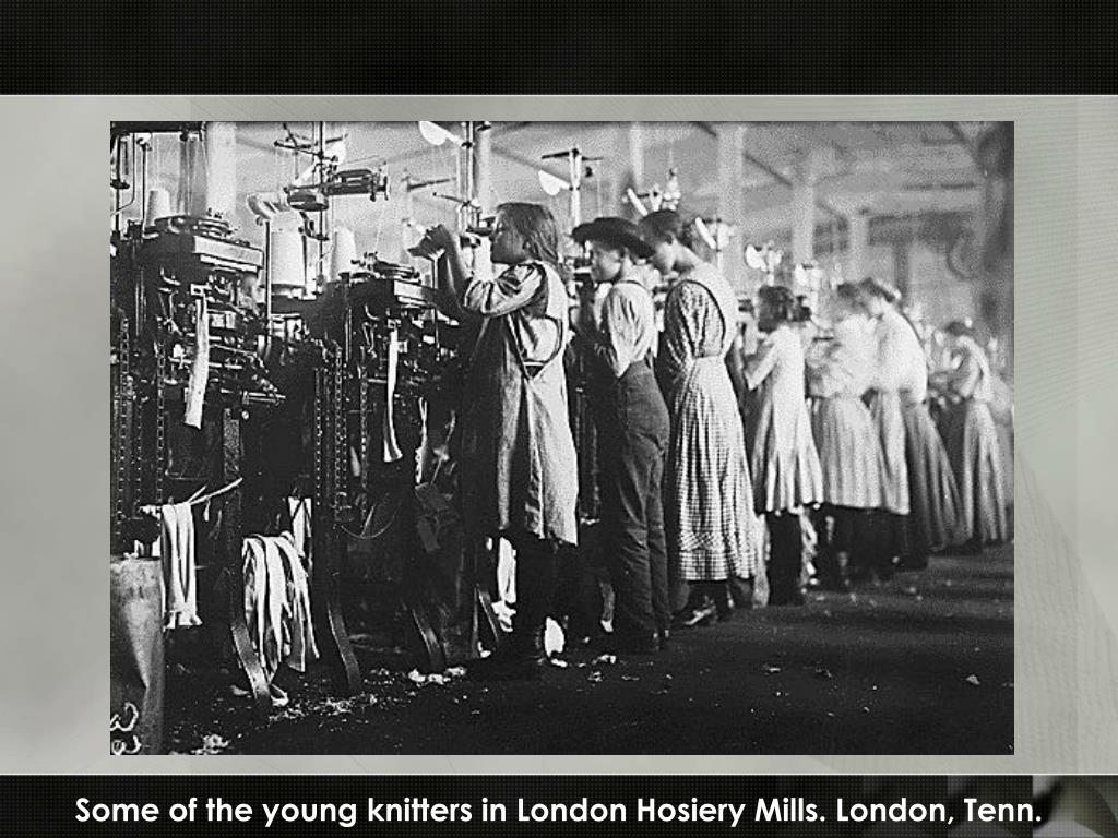 Some of the young knitters in London Hosiery Mills. London, Tenn.