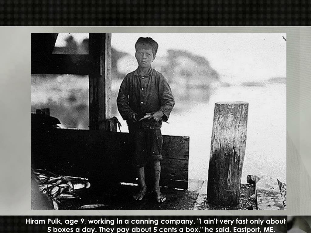 "Hiram Pulk, age 9, working in a canning company. ""I ain't very fast only about"