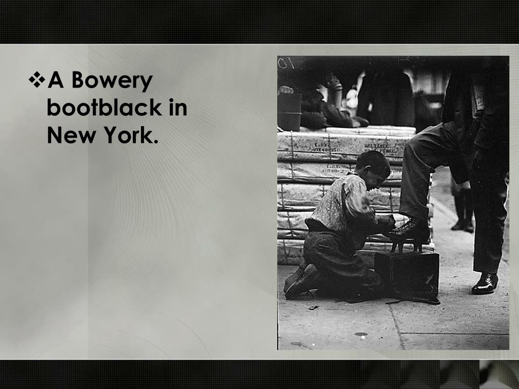 A Bowery bootblack in New York.