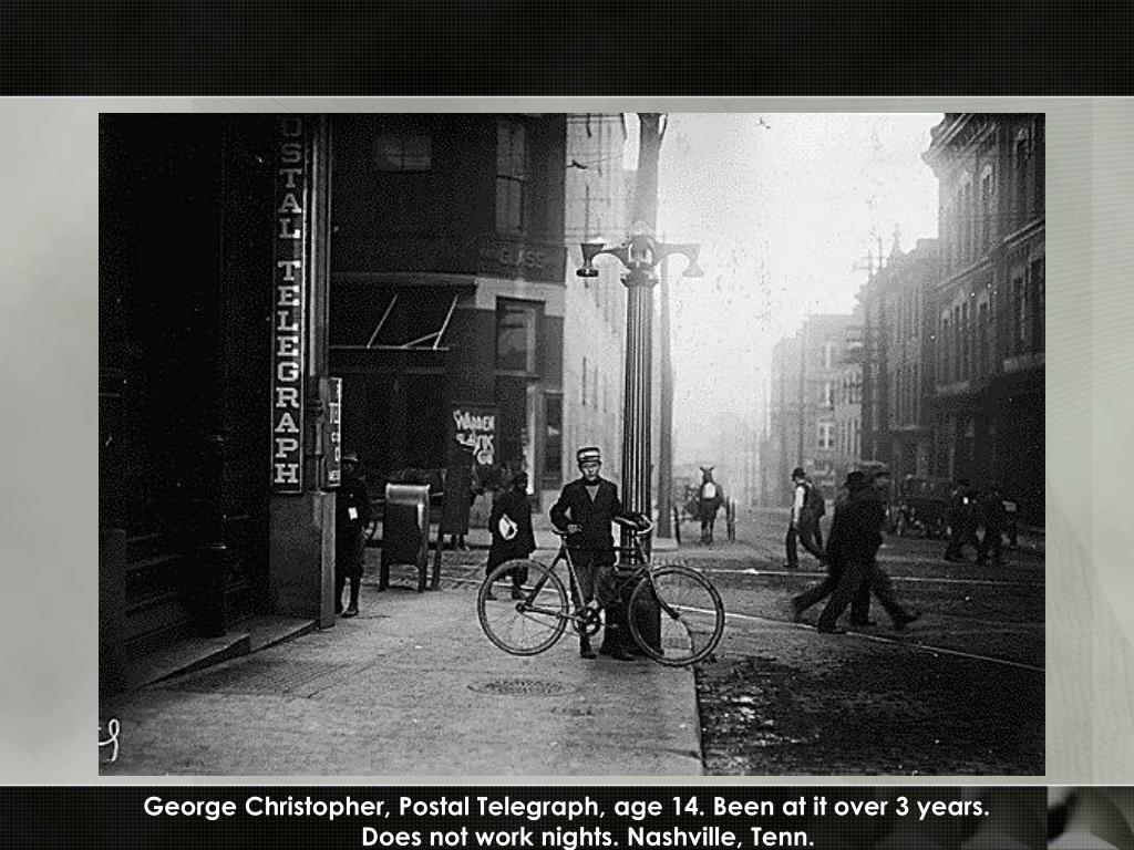 George Christopher, Postal Telegraph, age 14. Been at it over 3 years.