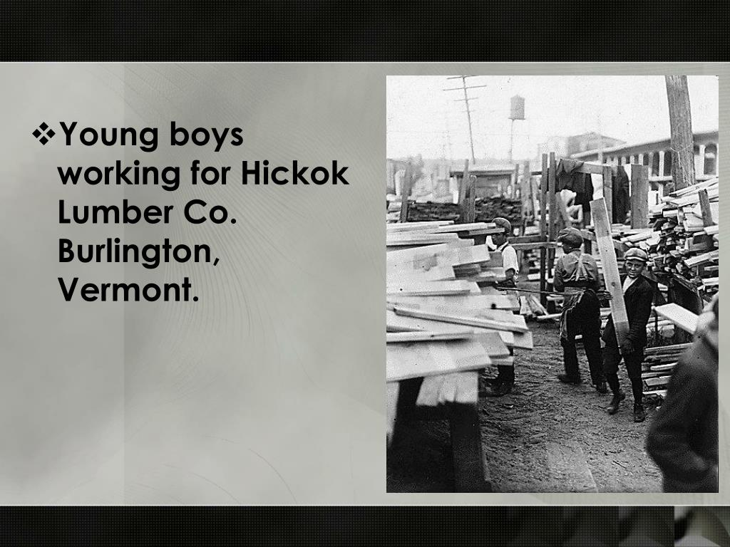 Young boys working for Hickok Lumber Co. Burlington, Vermont.