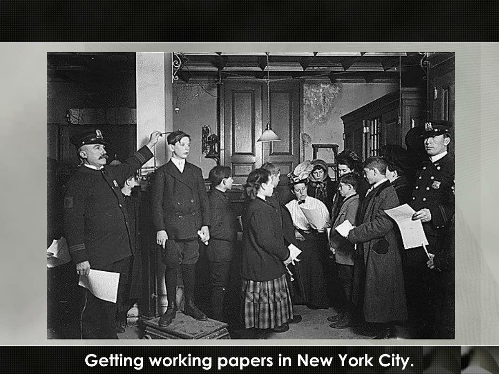 Getting working papers in New York City.