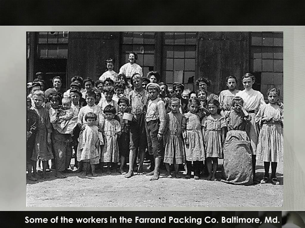 Some of the workers in the Farrand Packing Co. Baltimore, Md.