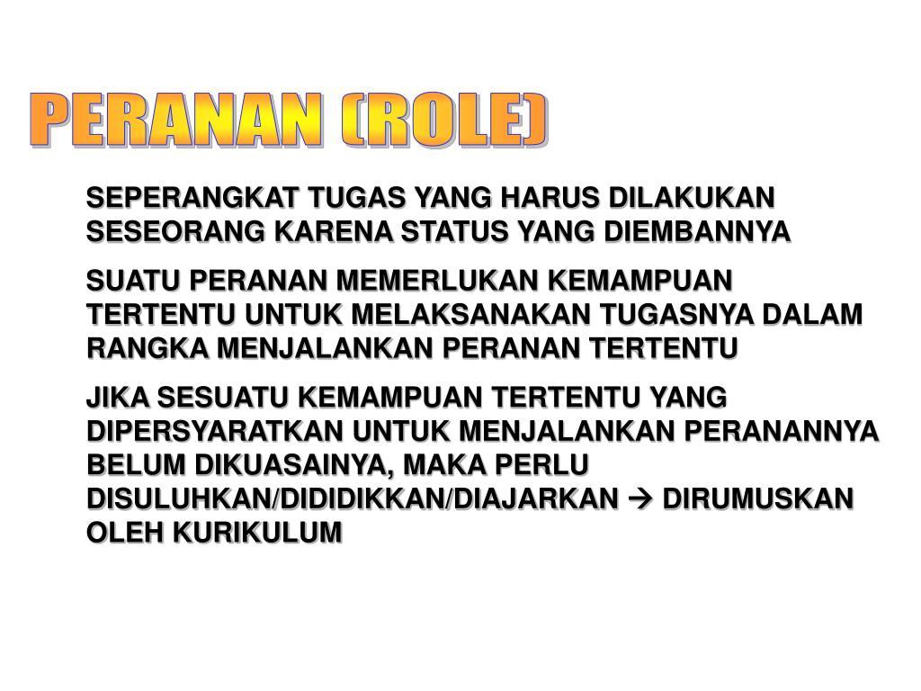 PERANAN (ROLE)