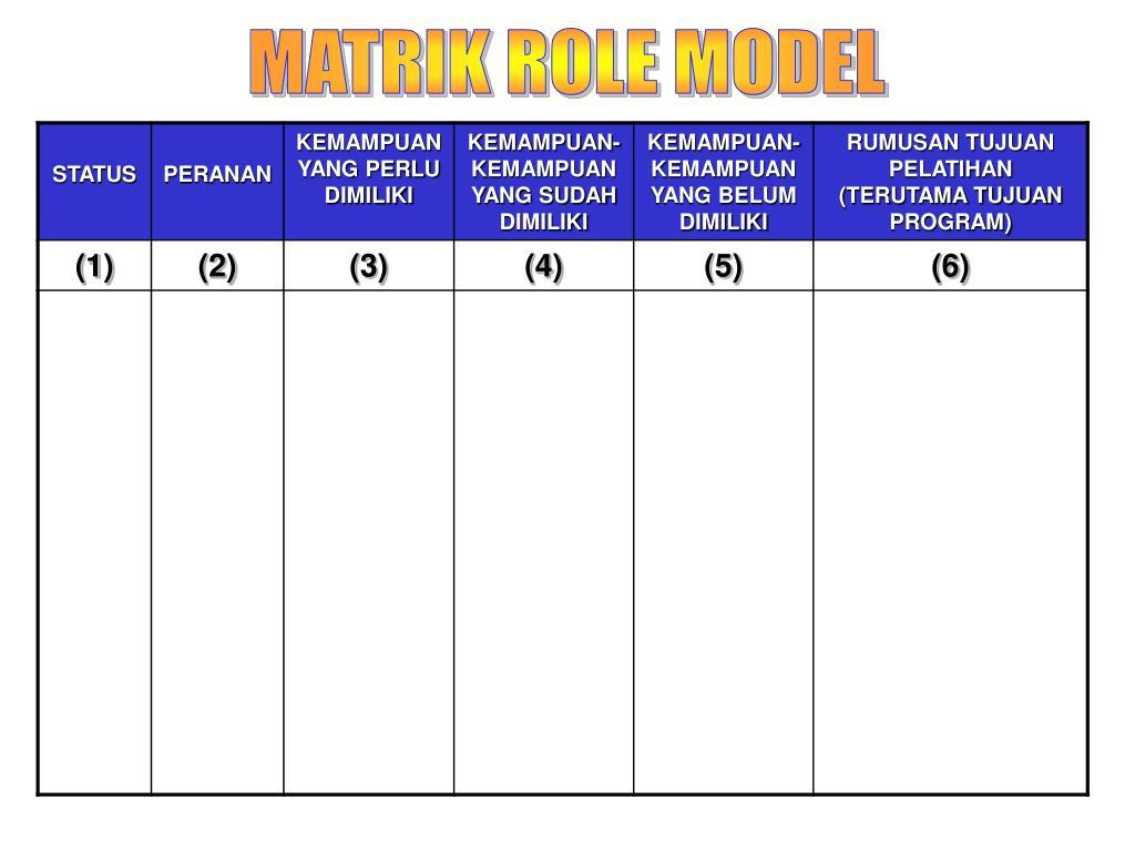 MATRIK ROLE MODEL
