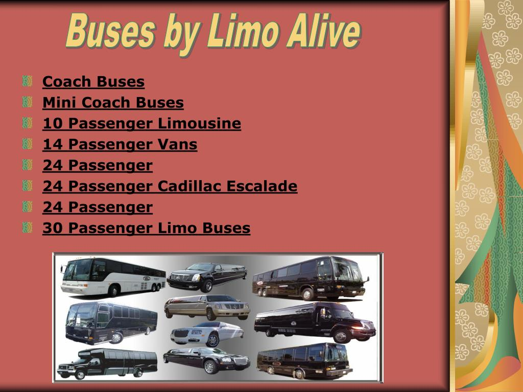 Buses by Limo Alive
