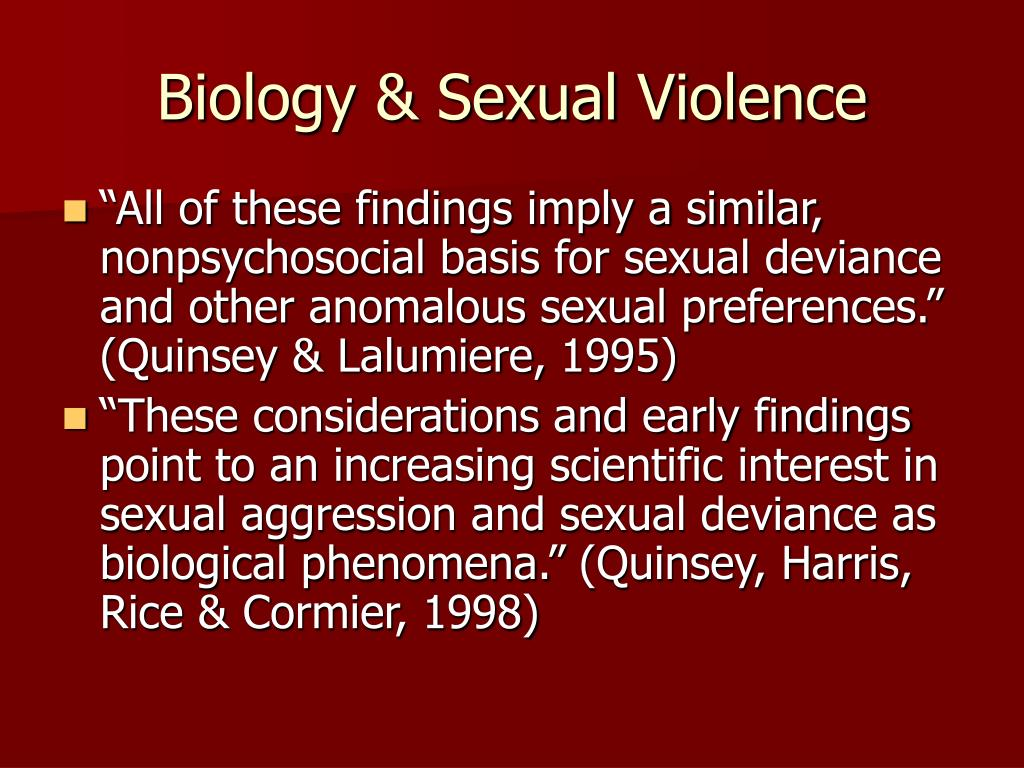 Biology & Sexual Violence