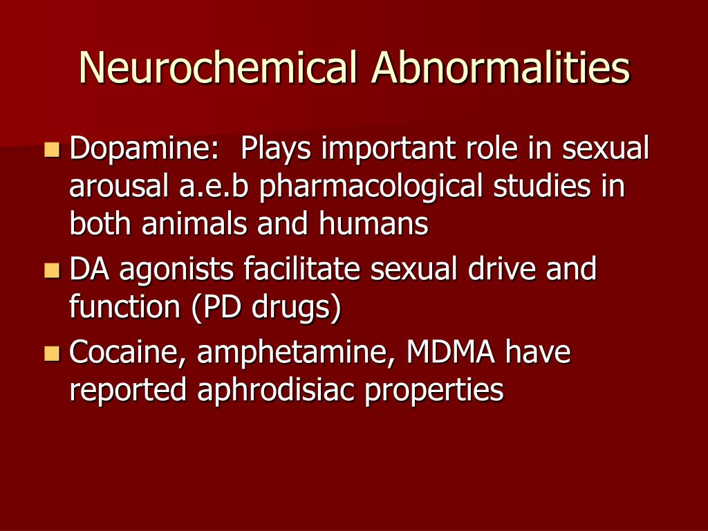 Neurochemical Abnormalities