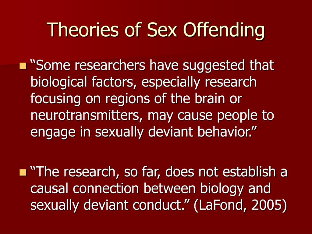 Theories of Sex Offending