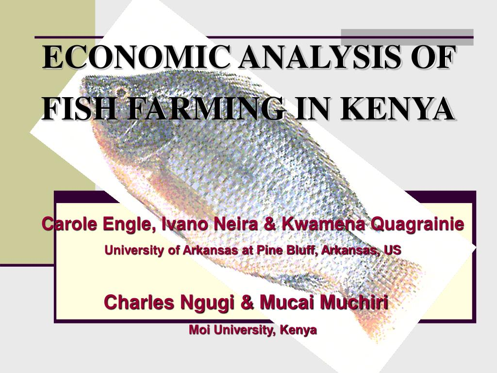 ECONOMIC ANALYSIS OF FISH FARMING IN KENYA