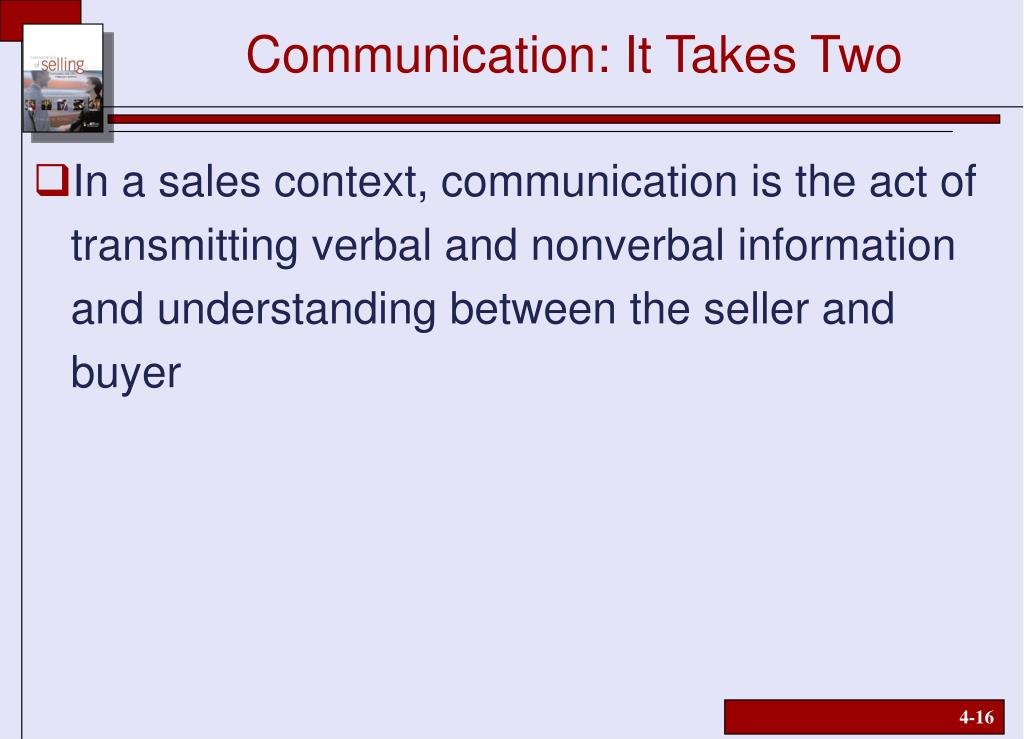 Communication: It Takes Two
