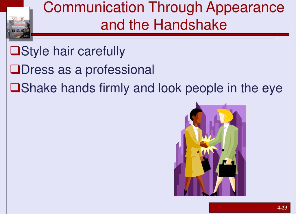 Communication Through Appearance and the Handshake