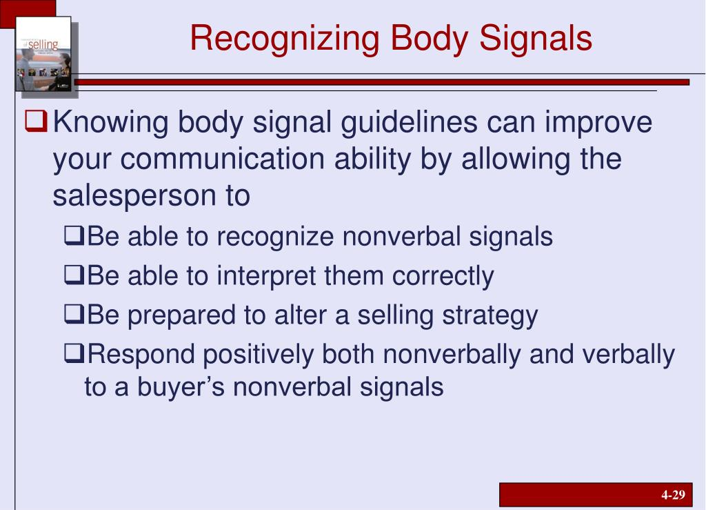 Recognizing Body Signals