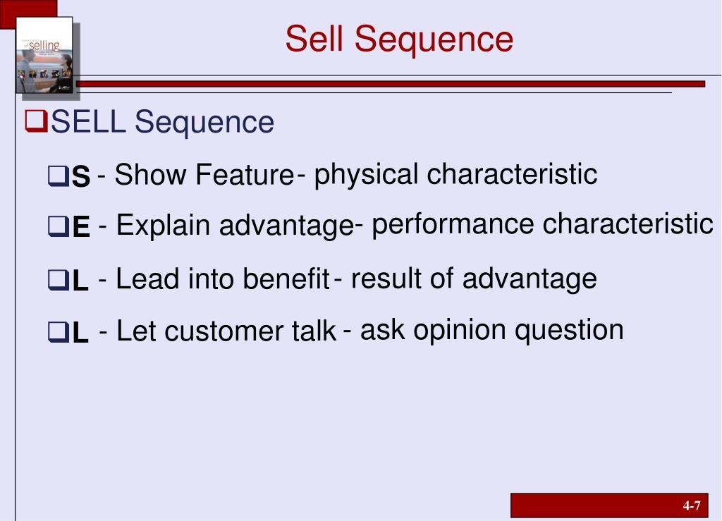 Sell Sequence
