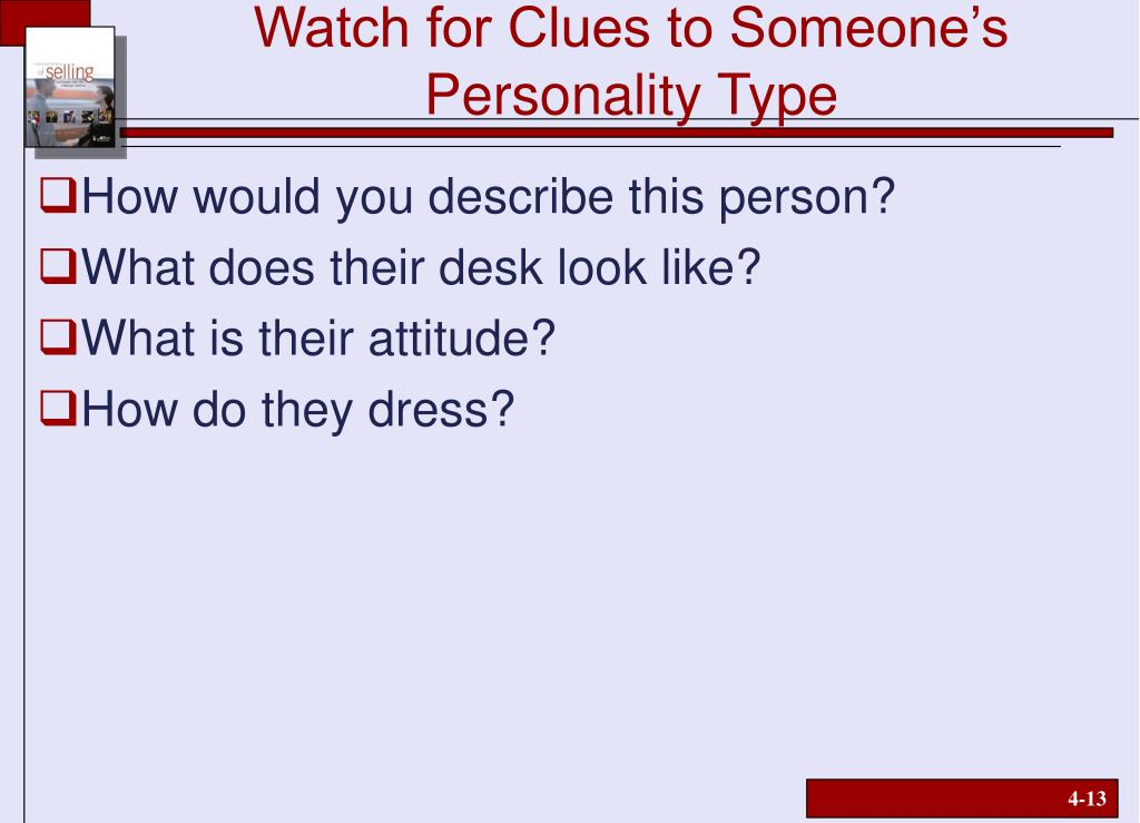 Watch for Clues to Someone's Personality Type