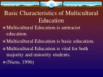 basic characteristics of multicultural education