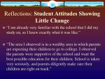 reflections student attitudes showing little change