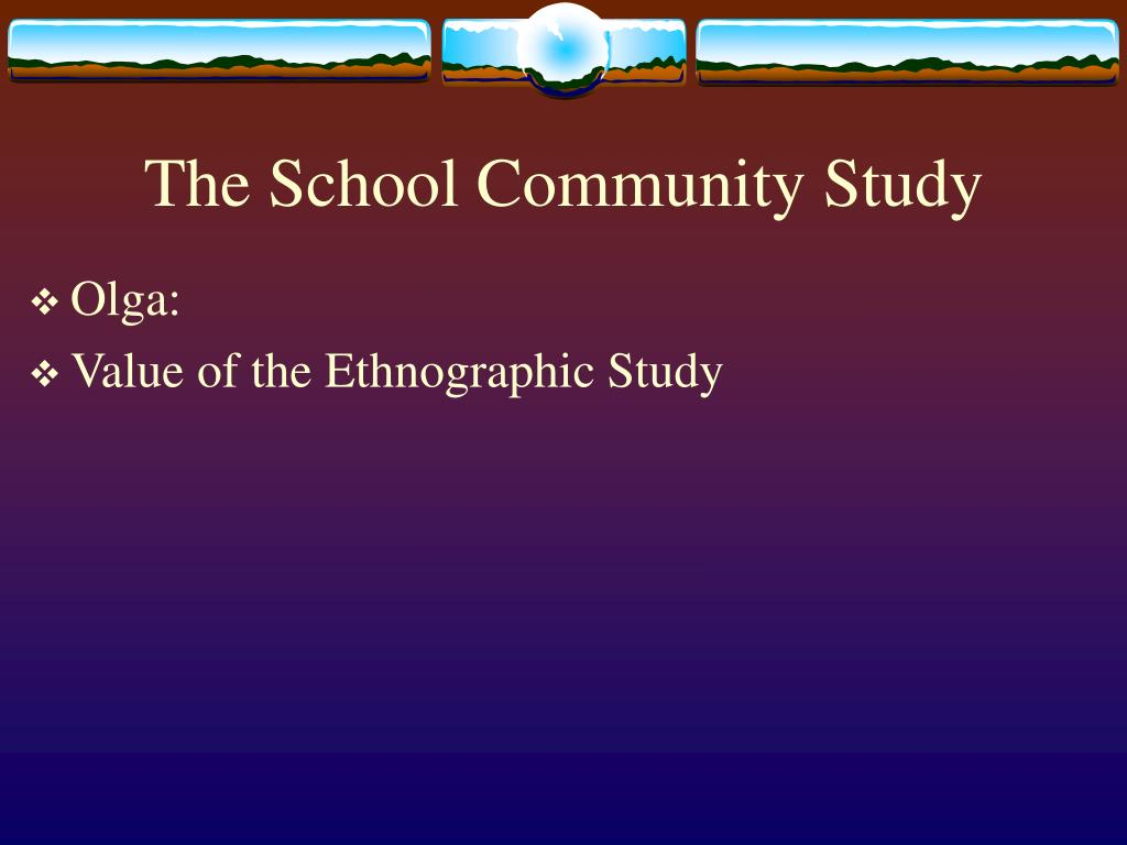 The School Community Study