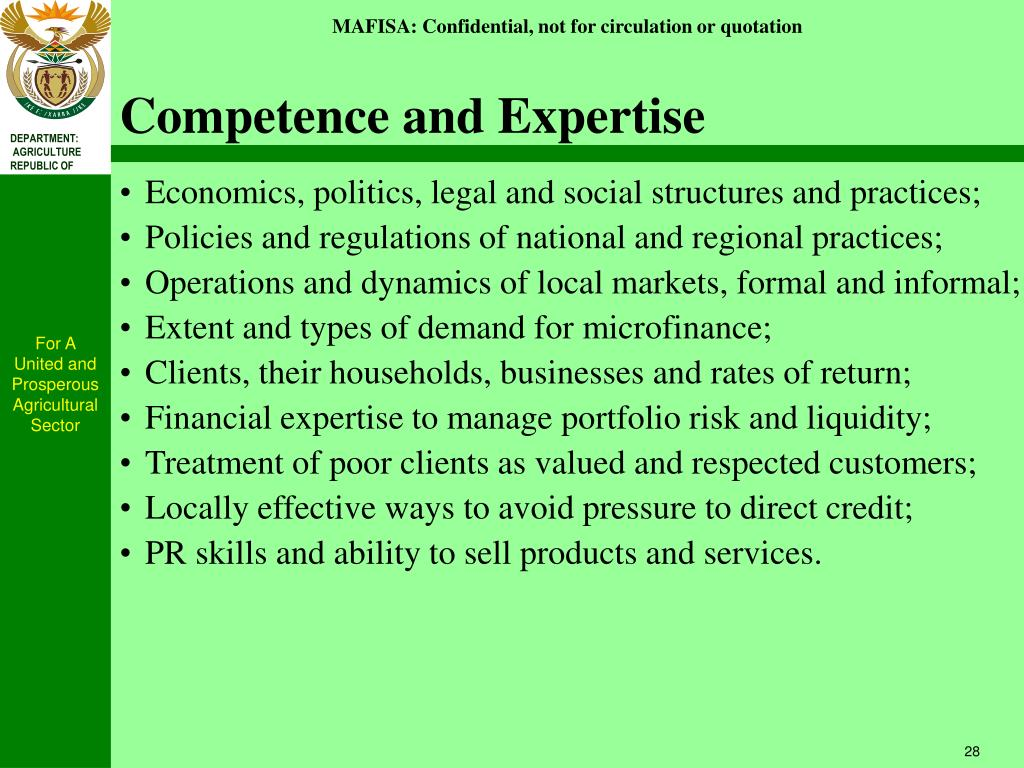 Competence and Expertise