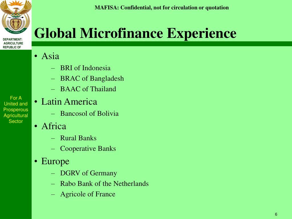 Global Microfinance Experience