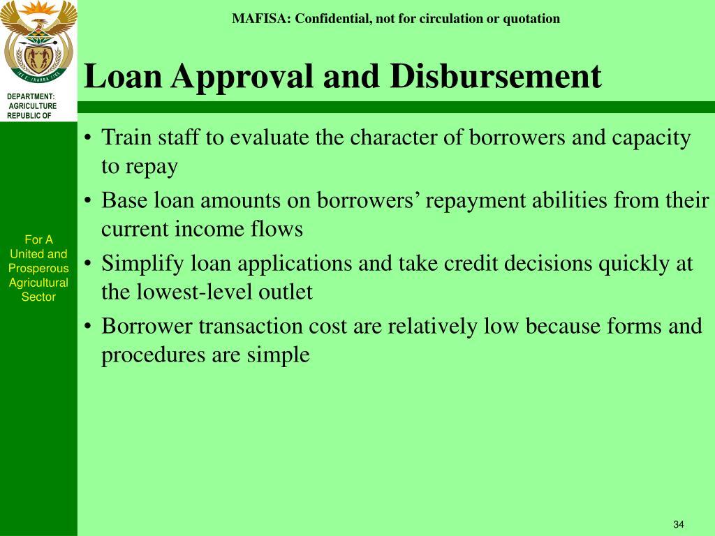 Loan Approval and Disbursement