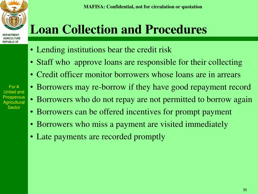 Loan Collection and Procedures