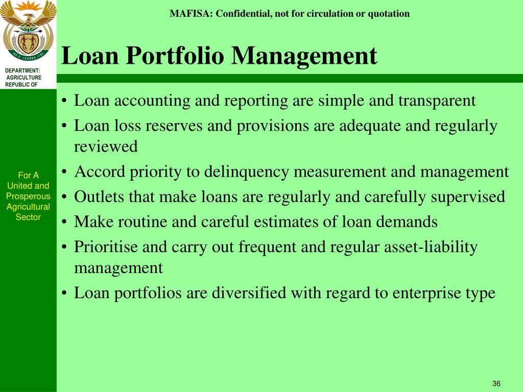 Loan Portfolio Management