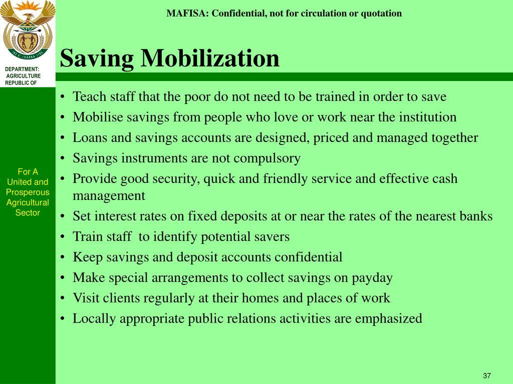 Saving Mobilization