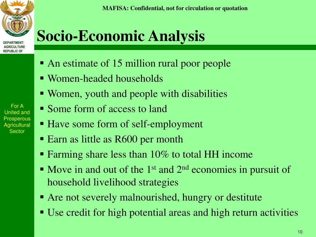 Socio-Economic Analysis