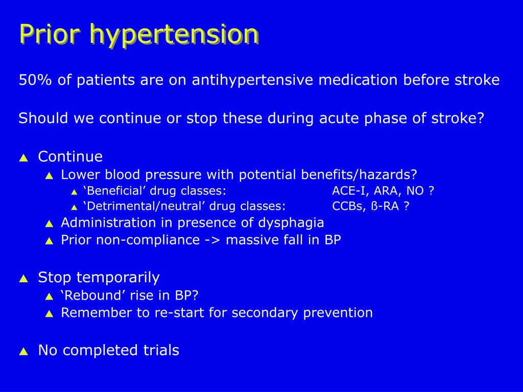Prior hypertension