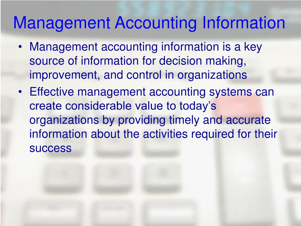 management accounting information for creating value Management accounting explains the contemporary role of management accounting in business and demonstrates how it creates and enhances value this seventh edition continues to help students.