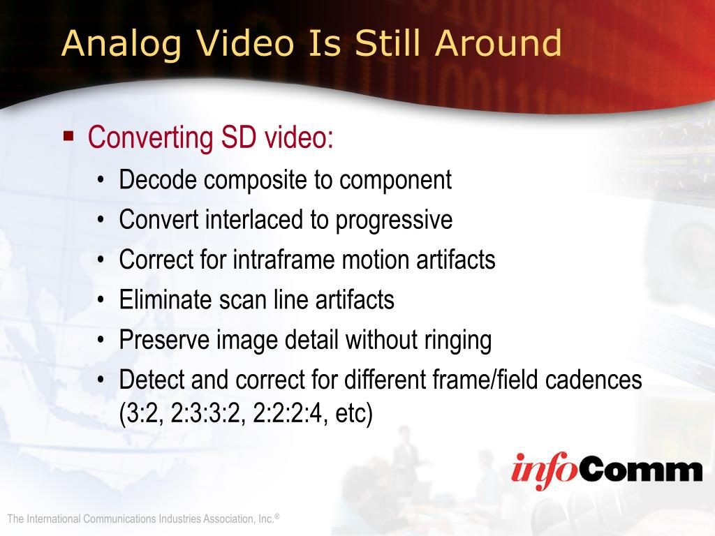 Converting SD video: