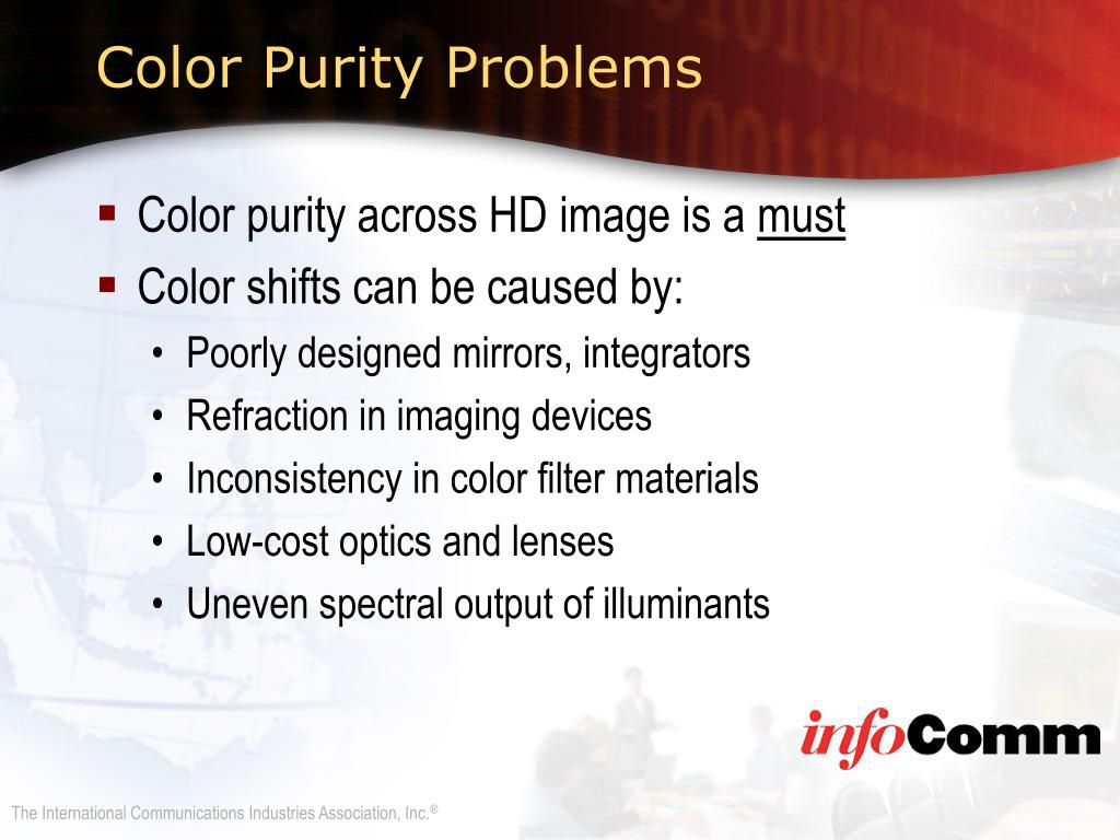 Color Purity Problems