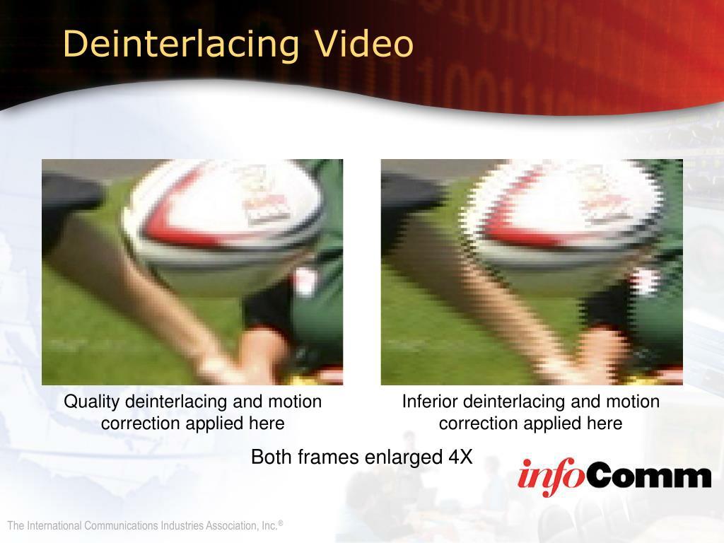 Deinterlacing Video
