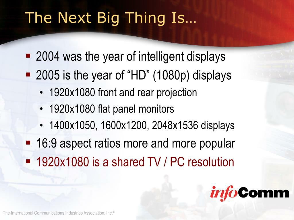 The Next Big Thing Is…