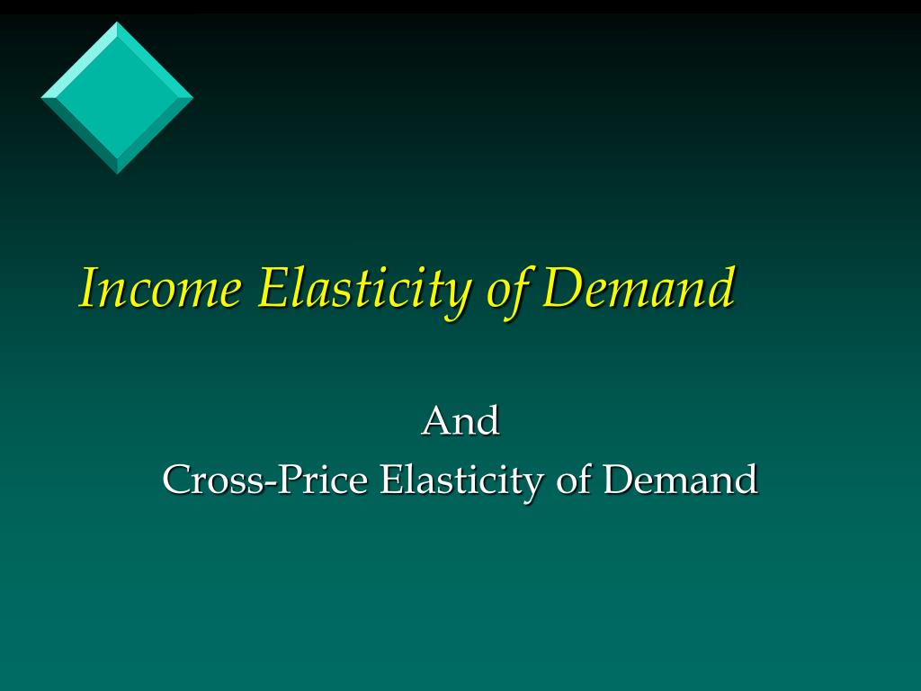 Income Elasticity of Demand