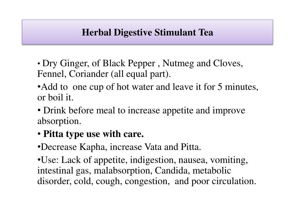 Herbal Digestive Stimulant Tea