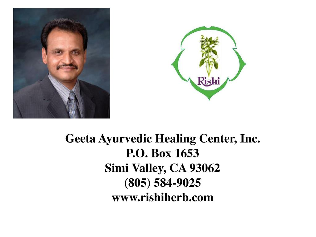 Geeta Ayurvedic Healing Center, Inc.