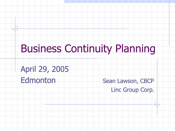 Business continuity planning l.jpg