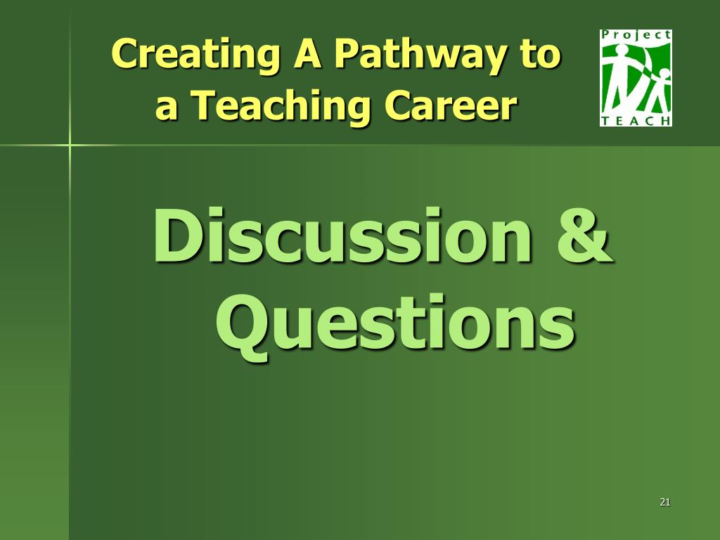Creating A Pathway to a Teaching Career