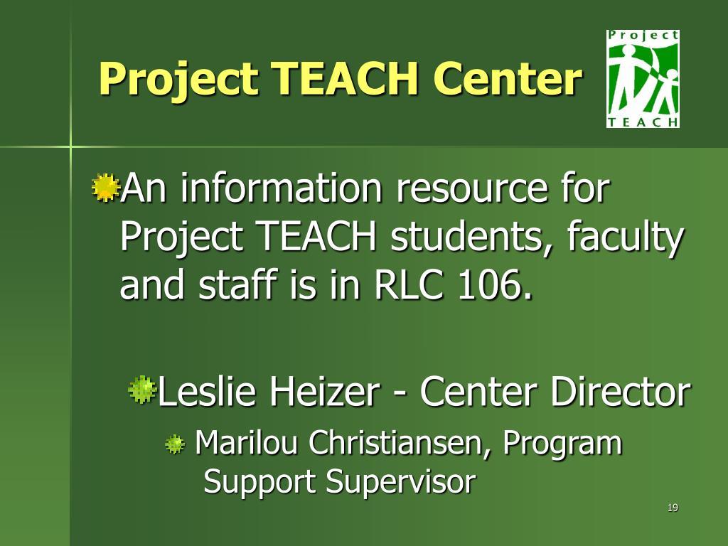 Project TEACH Center