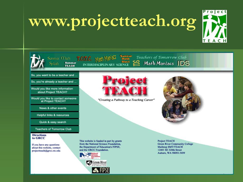 www.projectteach.org