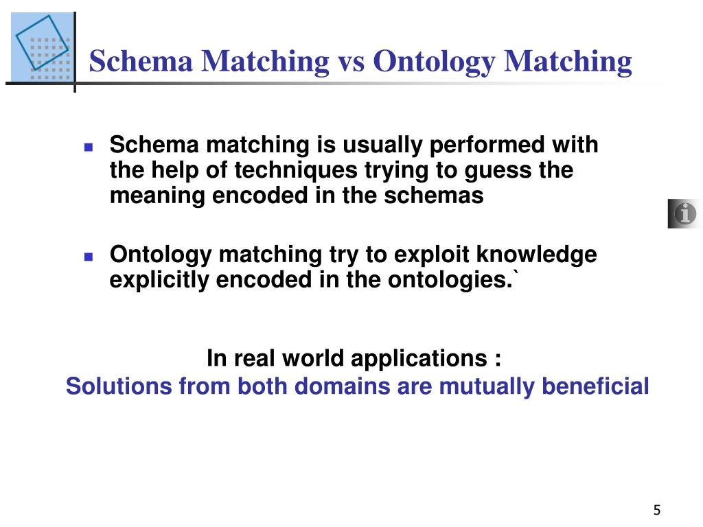 Schema Matching vs Ontology Matching
